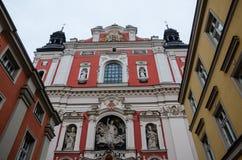 Parish church of Poznań - front view. Parish church in Poznań, Poland Stock Photo