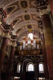 Parish church of Poznań and its organ. Parish church of Poznań - inside view Royalty Free Stock Images