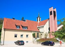 Parish church of the Protestant Church in Portschach. Austria Royalty Free Stock Images