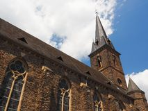 Parish church Saint Nicolaus in  German city Traben-Trarbach near river Moselle Stock Image