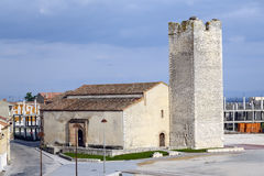 Parish Church of San Esteban in Cuellar Stock Photos