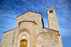 Parish Church of San Giorgio di Valpolicella. Interesting example of romanesque architecture in Valpolicella - Verona Italy royalty free stock images