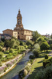 Parish church of San Miguel in Cuzcurrita Royalty Free Stock Image