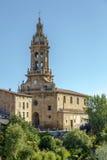 Parish church of San Miguel in Cuzcurrita Royalty Free Stock Images