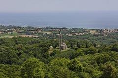 Parish Church of San Nicolao, Paroissiale de San Nicolao, Costa Verde, Corsica, France Stock Photography