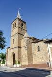Parish church of San Pelayo in Banos del river Tobia Royalty Free Stock Photo