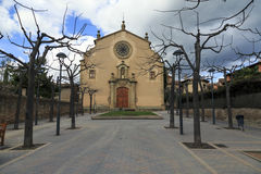 Parish Church of Sant Genis, Spain Stock Image