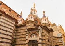Parish Church of Sant Roma in Lloret de Mar, Catalonia, Spain. Parish Church of Sant Roma in Lloret de Mar major tourist town in Catalonia, Spain stock image