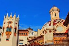 Parish Church of Sant Roma. Lloret de Mar. Costa Brava, Spain stock image