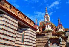 Parish Church of Sant Roma. Lloret de Mar Stock Images
