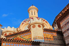 Parish Church of Sant Roma. Lloret de Mar, Costa Brava, Spain Royalty Free Stock Photography