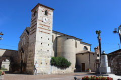 Parish church of Santa Maria of Cisano in Italy Stock Photo