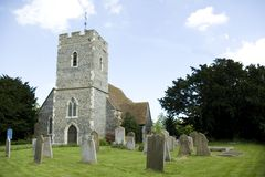 Parish Church of St Bartholomew. Landscape view of the Parish Church of St Bartholomew built during the 14th Century in the Kent Village of Bobbing England Stock Photo