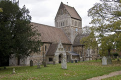 The Parish Church of St Lawrence. In the Norlk village of Castle Riding England royalty free stock photos