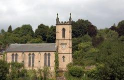 Parish Church of St Luke Ironbridge. The Parish Church of St Lukes in Ironbridge Telford Shropshire England stock image