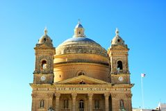 Parish Church of St. Maria, Malta Royalty Free Stock Image