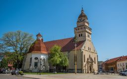 Parish Church St. Michael and Chapel of St Ann, Skalica, Slovakia. Parish Church of St. Michael the Archangel, Conservation Zone, Skalica, Slovakia royalty free stock images