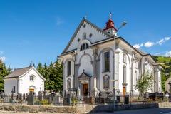 Parish Church St. Peter and Paul in Andermatt Stock Photo