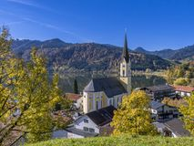 Church St. Sixtus in Schliersee, Bavaria Royalty Free Stock Image
