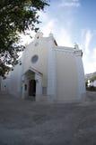 The parish church of St. Trinity in Baska on island Krk,Croatia stock image