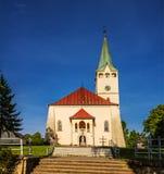 Parish church in Stropkov, Slovakia Stock Photo