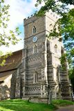 Parish church with tower Stock Photography