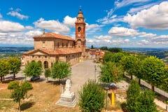 Parish church in town of Diano d`Alba, Italy. Stock Photos