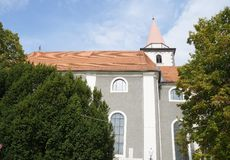 Parish Church in Varazdin Stock Images