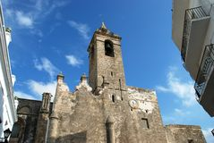 Parish church, Vejer de la Frontera. Stock Photography