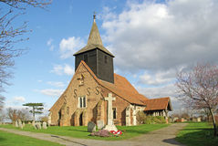 Parish Church and war memorial Royalty Free Stock Photo