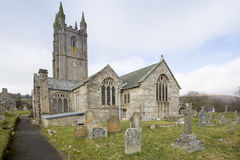 Parish Church of Widecombe Devon Stock Images