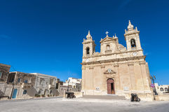 Parish church of Zebbug in Gozo, Malta Royalty Free Stock Photos