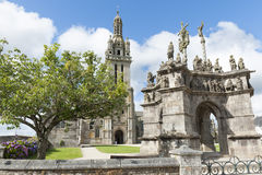 Parish enclosures pleyben in brittany Stock Images