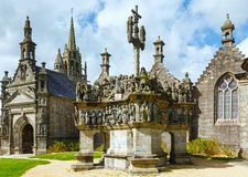 The parish of Guimiliau, Brittany, France. Royalty Free Stock Photography
