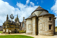 The parish of Guimiliau, Brittany, France. Royalty Free Stock Image
