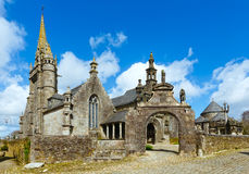 The parish of Guimiliau, Brittany, France. Royalty Free Stock Photos