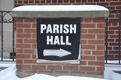 Parish hall sign Royalty Free Stock Photos