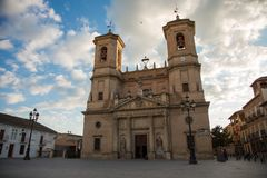 Parish of the Incarnation in Santa Fe. Photograph of the Parish of the Incarnation in Santa Fe, Granada, Andalusia, Spain royalty free stock photo