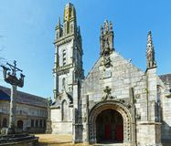 The parish of Lampaul-Guimiliau, Brittany, France. Stock Photography
