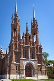 Parish of the Sacred Heart of Jesus of the Roman Catholic Church Polish church was built in 1906 in the historic center of the c royalty free stock photography