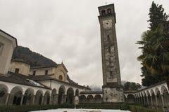 Parish of San Lorenzo, Chiavenna, Italy. View of the interior of the cloister of the parish of San Lorenzo, Chiavenna, Italy stock photos
