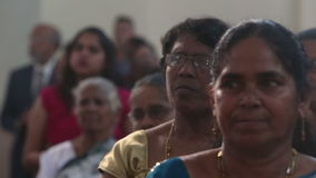 Parishioners in the church are preaching in the Catholic Church in India