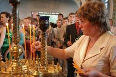 Parishioners of the Orthodox Church Royalty Free Stock Image