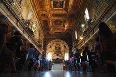 Parishioners at San Martino. Stock Images