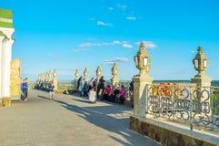 Parishoiners σε Pochaev Lavra Στοκ εικόνες με δικαίωμα ελεύθερης χρήσης
