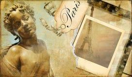 Parisian album. Vintage photoa album series - Paris Royalty Free Stock Photo