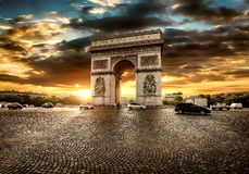 Parisian Arc de Triomphe Royalty Free Stock Photo