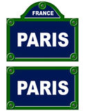 Parisian avenue plates Royalty Free Stock Photos