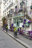 Parisian back street flower shop Royalty Free Stock Photos