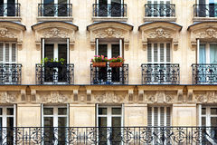 Parisian balconies Stock Photos